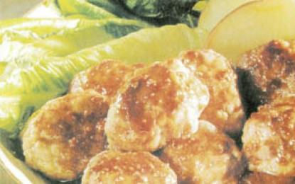 Crochete dulci-acrișoare de vițel cu mere
