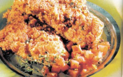 Fileuri de calcan in crusta de ardei gras
