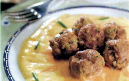 Chifteluțe picante cu sos de ardei gras