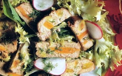 Friptură de vițel împănată cu morcovi și fistic
