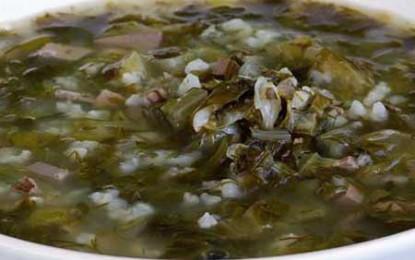 Magiritsa, sau ciorbă à la grec de măruntaie de miel