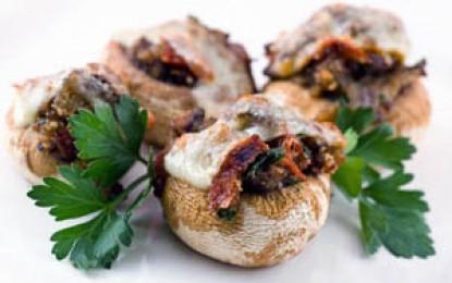 Ciuperci umplute în stil italian