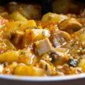 Tocanita de cartofi cu ciuperci
