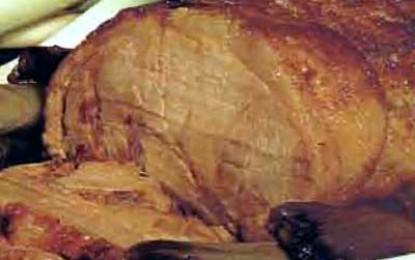 Friptură brezată de porc cu praz