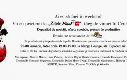 "Weekend ""Zilele Vinul.ro"": premii la fiecare 5 minute"