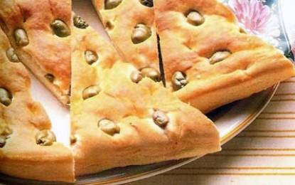 Focaccia (cu măsline verzi)