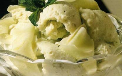 Înghețată de castraveți cu mentă