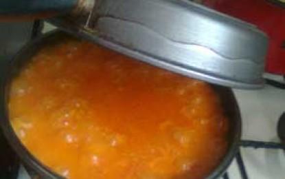 Supă de roșii cu găluște