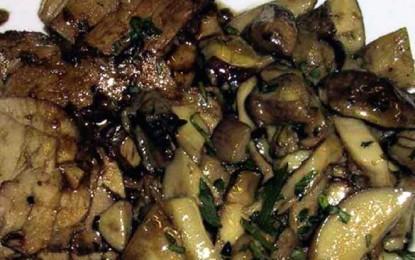 Escalop de vițel cu ciuperci