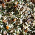 Pilaf de urzici cu ciuperci si morcovi