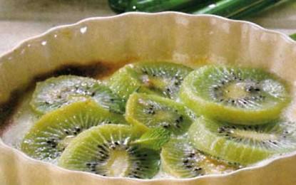 Kiwi gratinat cu zabaglione