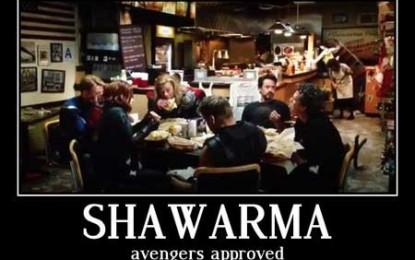 Super-eroii americani fac reclamă la șaorma!