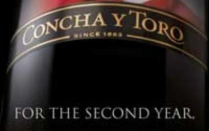 Concha y Toro este World's Most Admired Wine Brand pentru al doilea an consecutiv