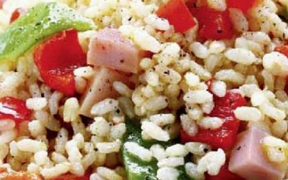 Salată tricoloră de orez