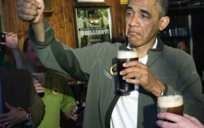 Obama își face campanie electorală cu bere de casă. De Casa Albă!