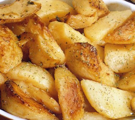 Cartofi la cuptor grecești, cu ulei de măsline, lămâie și oregano