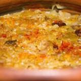 Mâncare de varză murată cu afumătură