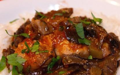 Mâncare de porc cu ciuperci