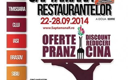 Mâine începe Săptămâna Restaurantelor, ediția a II-a