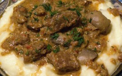Mâncare de vită cu ciuperci
