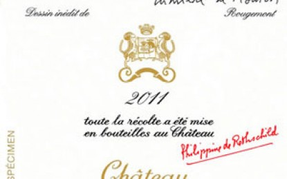 Chateau Mouton Rothschild 2011 va avea o etichetă ilustrată de Guy de Rougemont