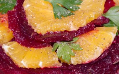 Salată de sfeclă roșie cu portocale