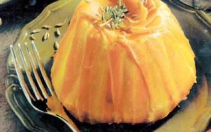Budincă de morcovi cu ceapă și brânză