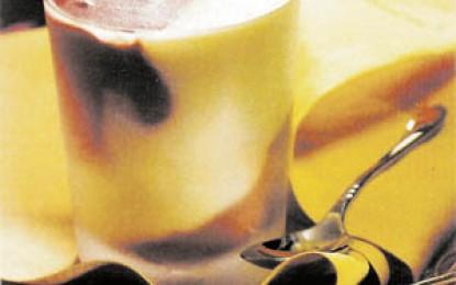 Cremă de ciocolată la pahar
