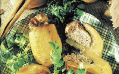Cartofi umpluți cu șuncă afumată