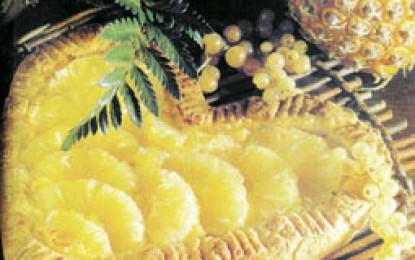 Tartă cu ananas și cremă de migdale