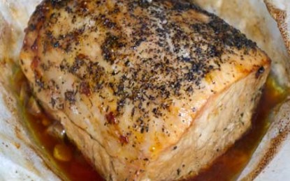Pulpă de porc în pergament