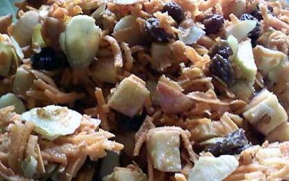 Morcovi cu stafide și alune