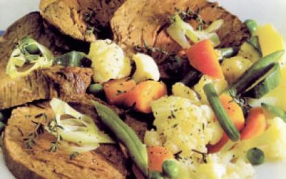 Mușchi de vită cu legume