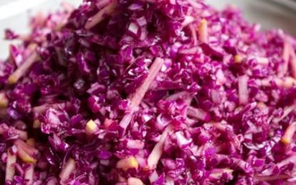 Salate de varză roșie