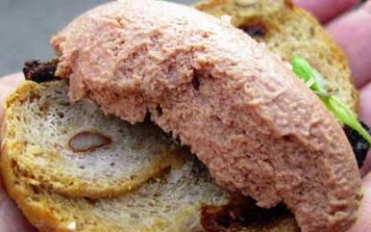 Pate de casa (din ficat si carne de porc)