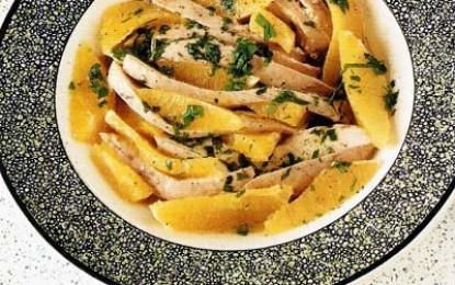 Salată creolă de pui cu portocale