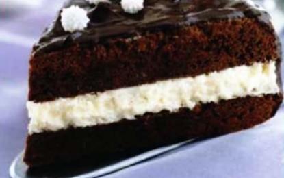 Tort de ciocolată alb și negru