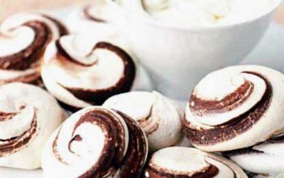 Bezele marmorate cu ciocolată