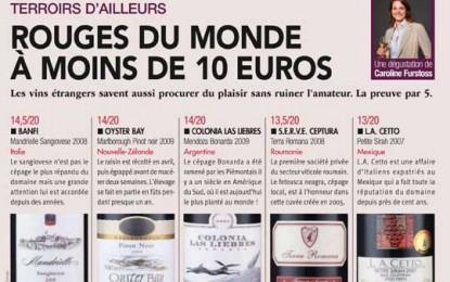 Feteasca Neagră Terra Romana, recomandată de La Revue du Vin de France