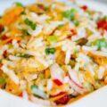 Salata de orez cu peste afumat