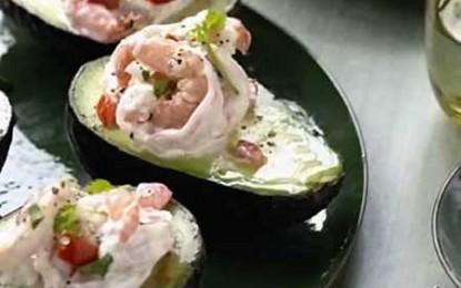Avocado umplut cu creveți, Eva Longoria style