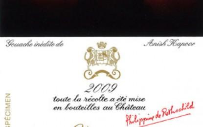 Anish Kapoor desenează eticheta pentru Château Mouton Rothschild 2009
