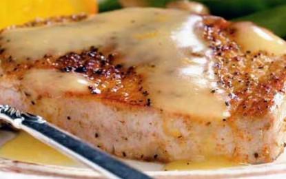 Cotlet de porc cu sos de portocale