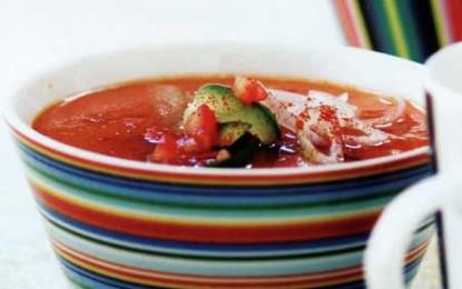 Gazpacho cu ardei copți