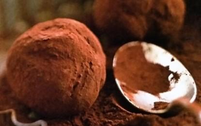 Trufe de ciocolată neagră