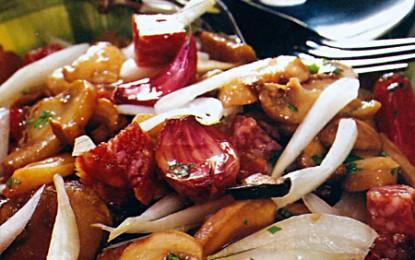 Salată caldă de ciuperci