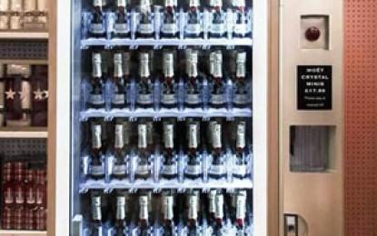 A apărut primul distribuitor automat de șampanie din lume